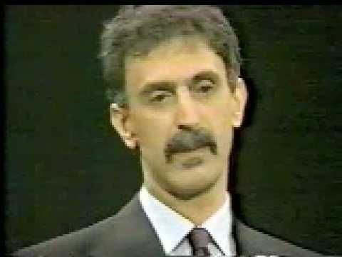 Frank Zappa On Freedom Of Speech (CNN Crossfire 1986 - Pt. 1); crazy how things have changed!!! 7:00 to 7:25 is a great few seconds....