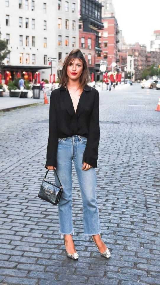 French girls have a knack for making denim look both insanely cool and perfectly polished. Here, we share the silhouettes—and what to pair them with—to achieve Parisian panache in the denim department.