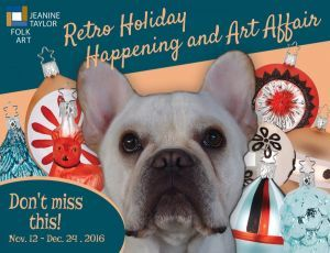 Louie on our Retro Holiday Happening and Art Affair postcard!