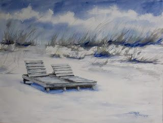 I Miss the Beach, 18x24 #watercolor $195. #art #painting