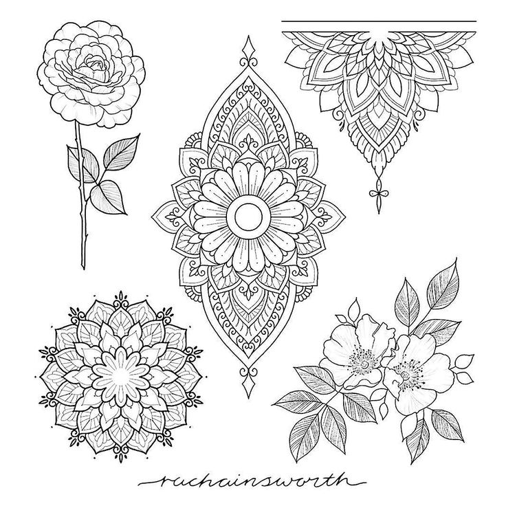 Love Tattoo Outlines: 37 Best Images About Tattoo ※Mandala※ On Pinterest