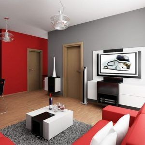 Red And Grey Living Room Designs