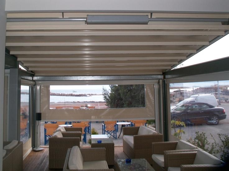 Pergole deosebite pentru cafenea, restaurant sau bar in aer liber, pergole Unica 130 Gibus pentru acoperire terase si spatii de relaxare. Calitate Gibus fara compromis, preturi de exceptie si durata mare de utilizare pergole.