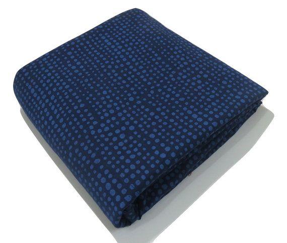 1 yard Navy blue India soft summer Cotton by CraftyJaipur on Etsy