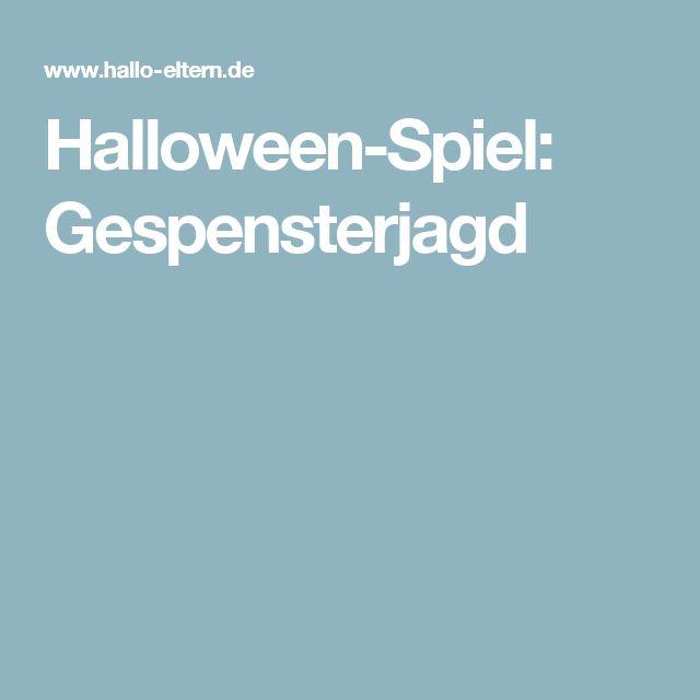 Halloween-Spiel: Gespensterjagd