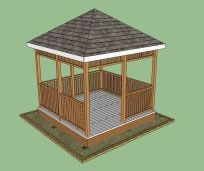 10 Free Gazebo Plans. Free plans to help you build a wooden gazebo.