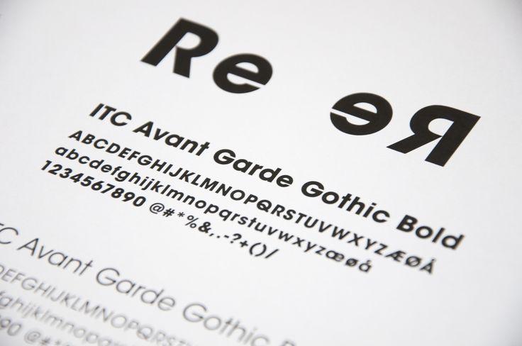 I valget af typografi er der lagt vægt på, at den også fungerer godt spejlvendt.