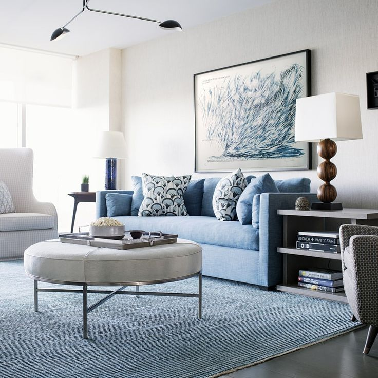 Blue living rooms interior design