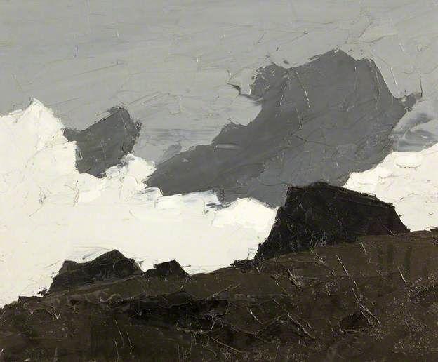'Drwsycoed' by Welsh artist Kyffin Williams (1918-2006). Oil on canvas, 49.7 x 59.8 cm. via BBC