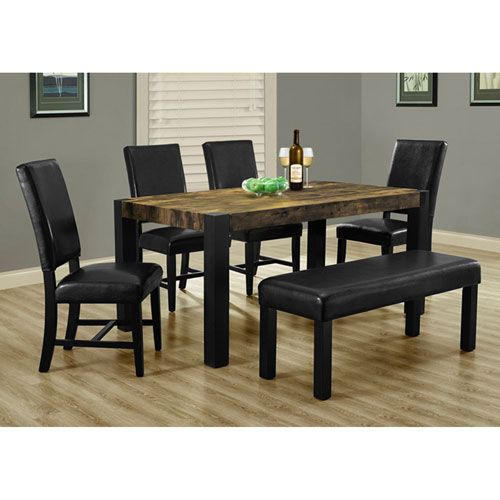 Black 40-Inch Dining Chair Set of 2
