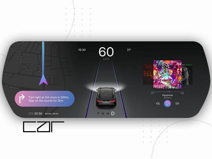Car Dashboard Interface by Keerthi chandra