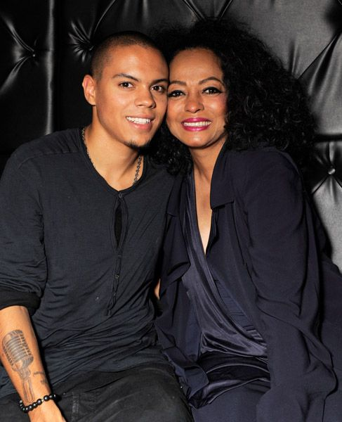 Evan Ross with legendary mom Miss Ross.