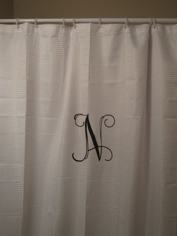 Perfect Shower Curtains Monogrammed Ensign - Bathroom with Bathtub ...
