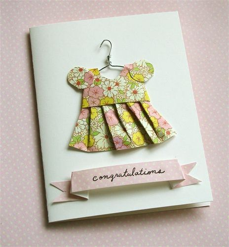 how cute  adorable is this?!?! Card club members....I am going to try to make this for the baby girl card!!!
