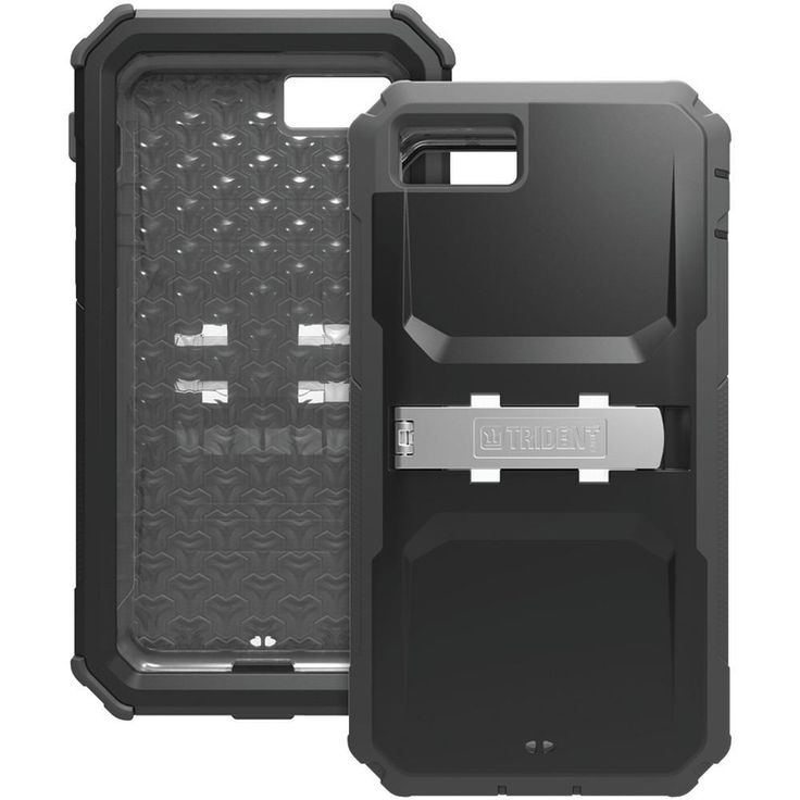 TRIDENT KN-APIPH7-BK000 iPhone(R) 7 Kraken(R) A.M.S. Case with Holster (Black). Overmolded TPE & polycarbonate protects against impacts ;  10ft drop protection ;  Inner case operates with or without outer shell ;  Port covers protect device from dust & debris ;  Scratch-resistant, built-in screen protector ;  Features removable media stand to allow for more than 20 mounting solutions ;  Produced from recyclable, degradable & compostable bio-enhanced plastic ;  Meets military standard…