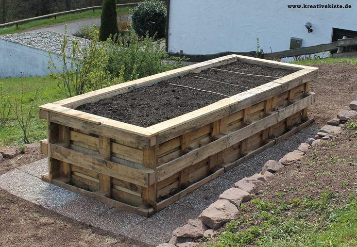 1 Hochbeet Aus Paletten Selber Bauen Aus Bauen Hochbeet Paletten Selber Selberbauen Garden Beds Cottage Garden Raised Garden Beds
