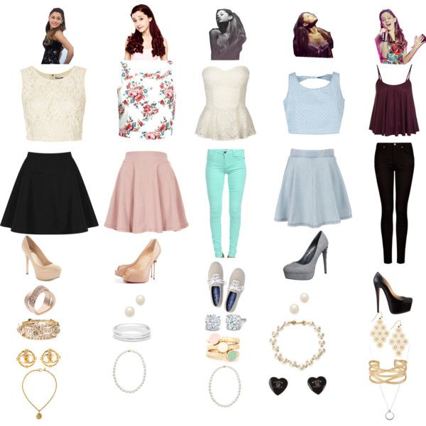 """Ariana Grande Inspired Outfit #2"" by daniellesilverberg on Polyvore"