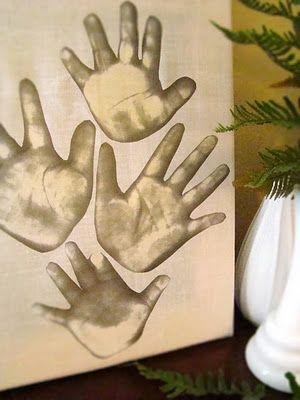 Home deco photocopy hands