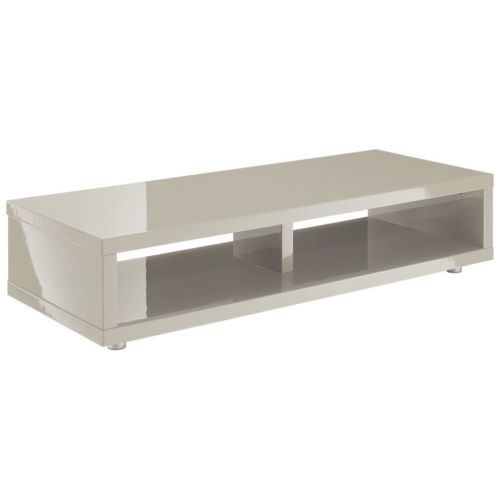 high gloss flat screen plasma lcd tv table stand cabinet media unit grey cream