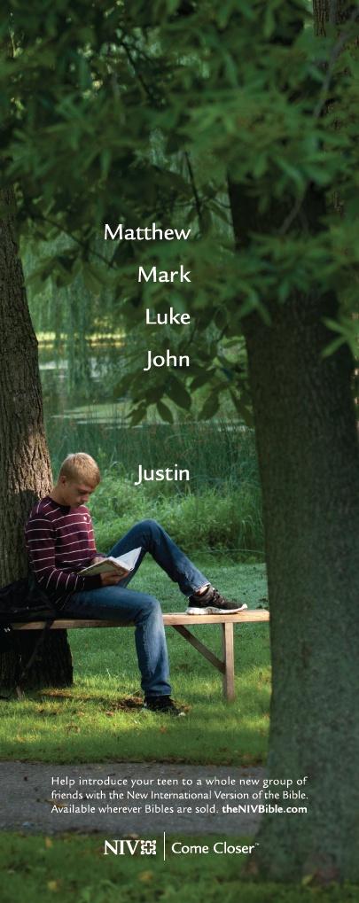 Matthew, Mark, Luke, John... Justin. #NIVBible