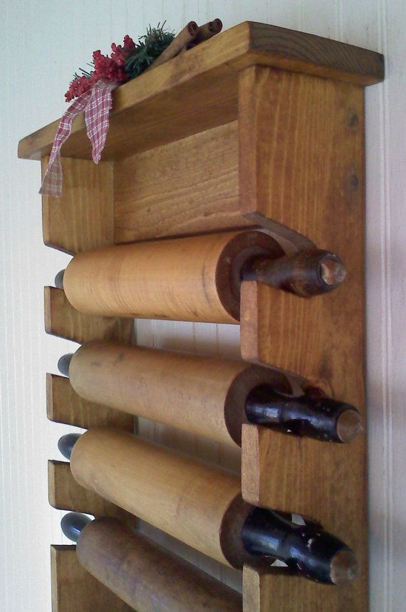 Primitive Rolling Pin Rack with Pegs Wooden by FirecrackerKid, $35.00