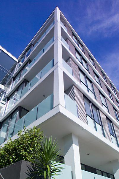 James Hardie's Villaboard® Soffit Lining #soffit #modernexterior #commercialarchitecture