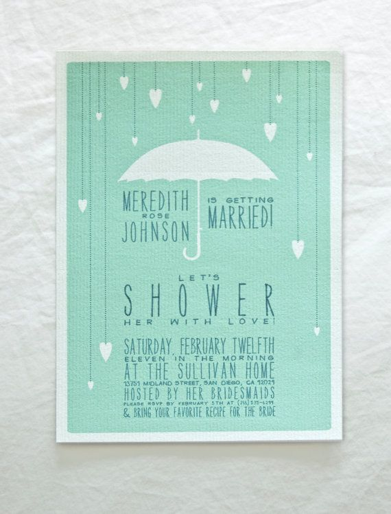 invite for baby or bridal shower