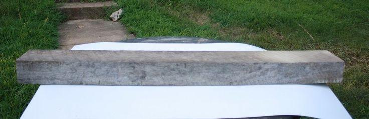 "Reclaimed Solid Oak Barn Wood Mantel Shelf Beam Bench Dark 49"" #B  #NaivePrimitive"