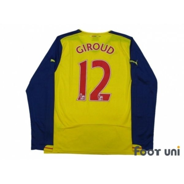 Arsenal 2014-2015 Away L/S Shirt #12 Giroud #puma - Football Shirts,Soccer Jerseys,Vintage Classic Retro - Online Store From Footuni Japan