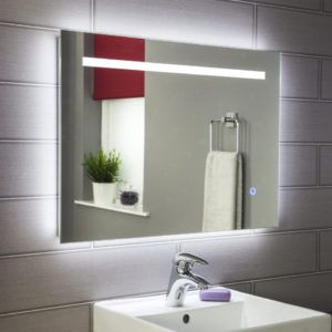 Bathroom mirrors with lights 25 pinterest bathroom mirror with battery led lights mozeypictures Images