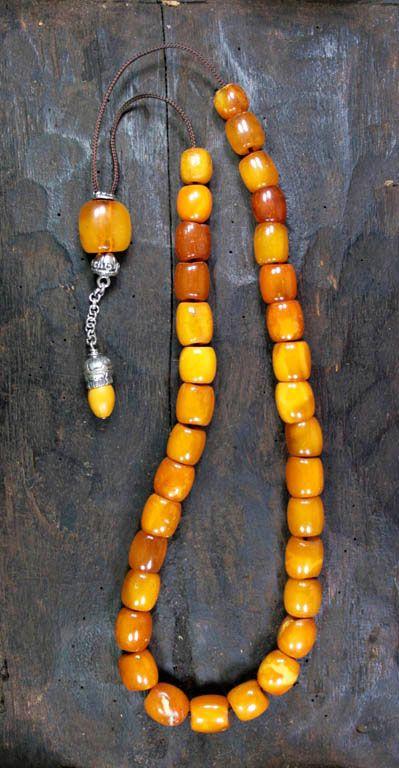 Antique Amber Kahraman collectible worry beads
