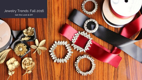 Fall jewelry trends 2016: Get the look and DIY Chokers, choker how to, choker DIY, pearls and chains, talisman, charms, brooches, brooch ideas