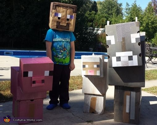 minecraft characters halloween costume contest at