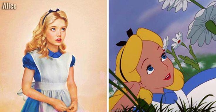 Artist creates realistic Disney Princesses