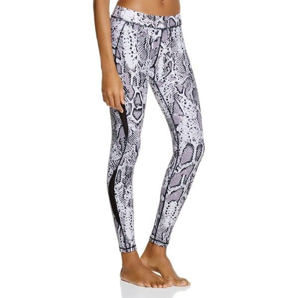 Hpe Snake Print Freshfit Compression Leggings (7,130 MKD) ❤ liked on Polyvore featuring pants, leggings and white snake