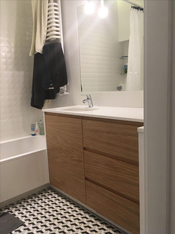 szafka łazienkowa z fornirem dębowym bathroom cabinet with oak veneer          #szafka #wardrobe #cabinet #cupboard #schrank #łazienka #bathroom #homedecor #homedesign #dom #home #meble #furniture #fornir #dąb #oak #wnętrze #interior #instasize #remont #warszawa #warsaw #poland