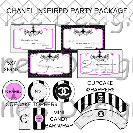 Chanel Inspired Party Package  Perfect for by YasminesDesigns