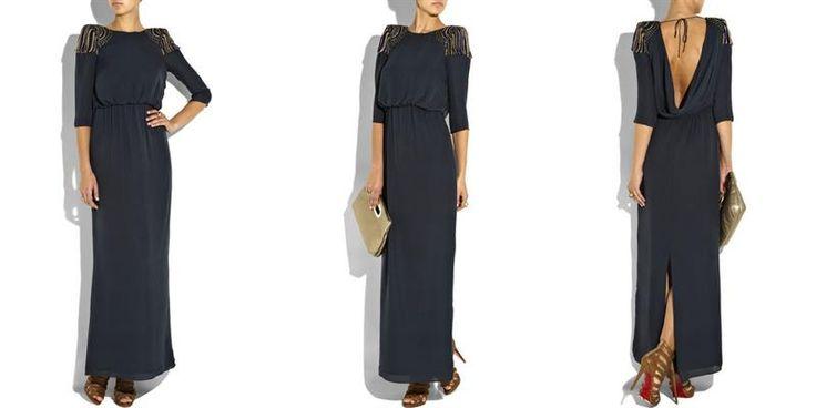 Платье с драпировкой на спине