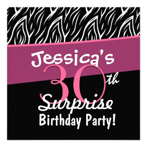 18 best 30th Birthday Party Invitations and Ideas Pink and Black