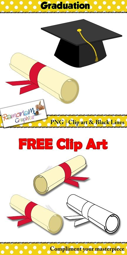 Free clipart for teachers! Perfect for end of year/graduation related projects