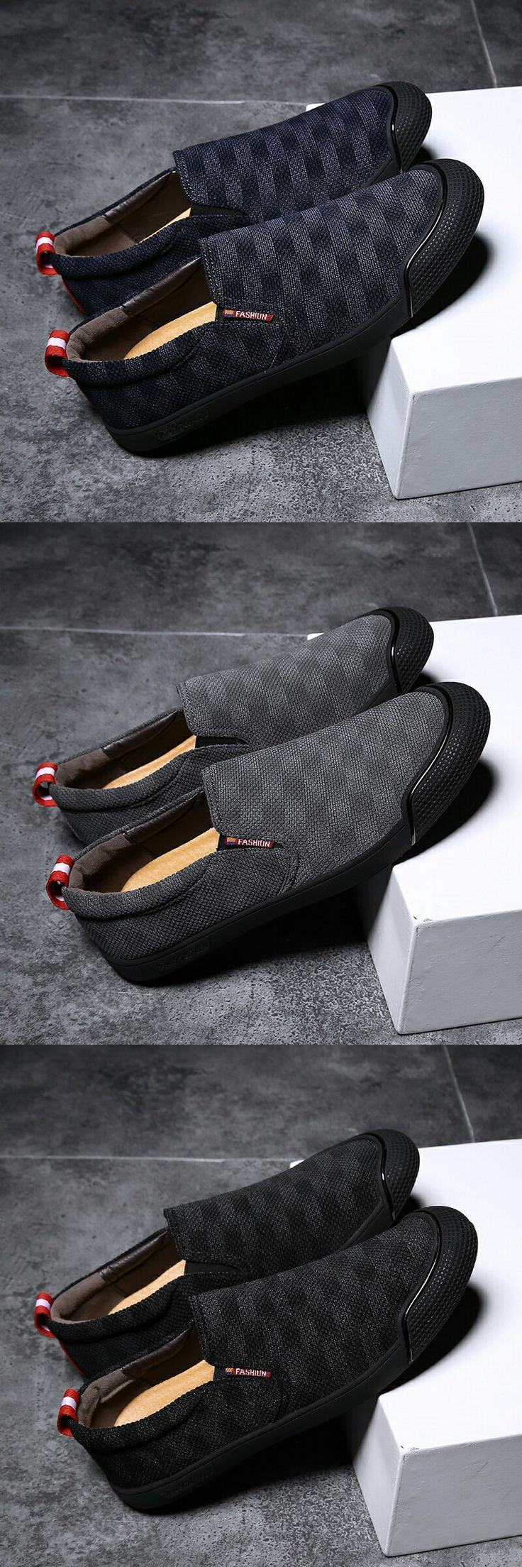 Prelesty Men Casual Mocasín Gentleman Fashion Party Plaid Pattern Cool Slip On   – Awesome Shoes