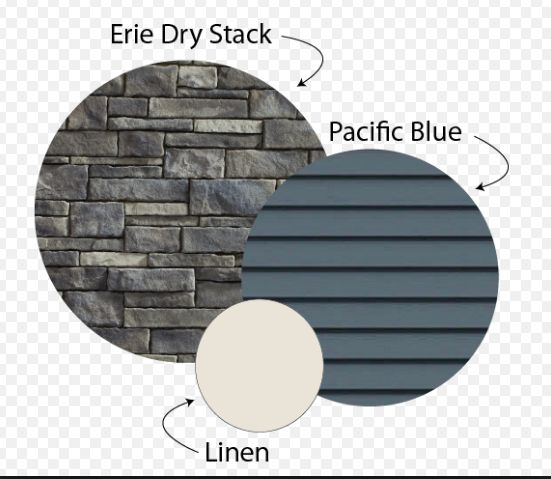 exterior stone and palette - but lighter/happier blue
