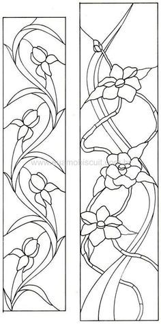 stained glass patterns columbine flower - Google Search