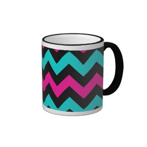 Cute and trendy chevron pattern coffee mug