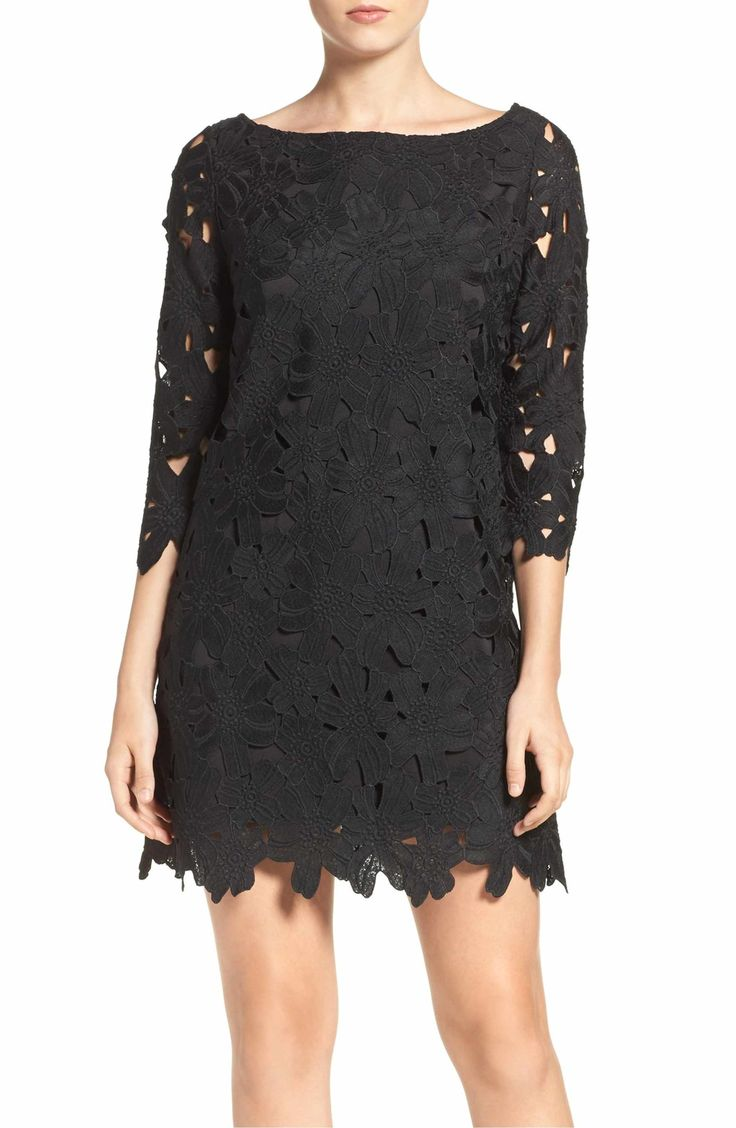 Main Image - Felicity & Coco Belza Floral Lace Shift Dress (Nordstrom Exclusive)