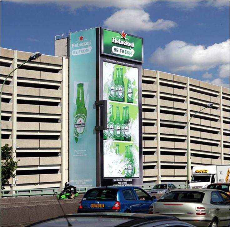 Frigo de Heineken gigante #Publicidad #StreetMK impresionante!