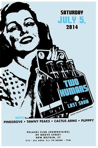 GigPosters.com - Two Humans - Pinegrove - Tawny Peaks - Cactus Army - Puppy