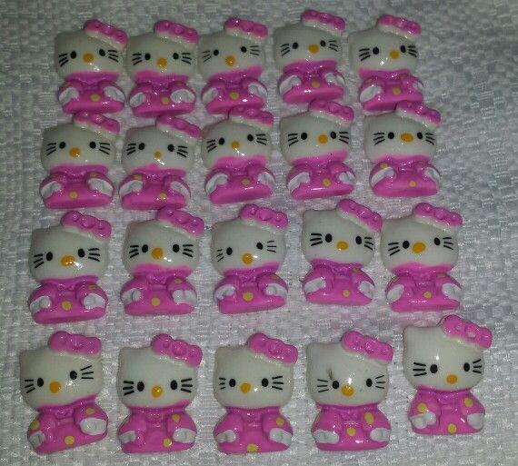 20 Hello Kitty Resins.  2cm wide $6.00  www.facebook.com/FarNorthernCraftSupplies