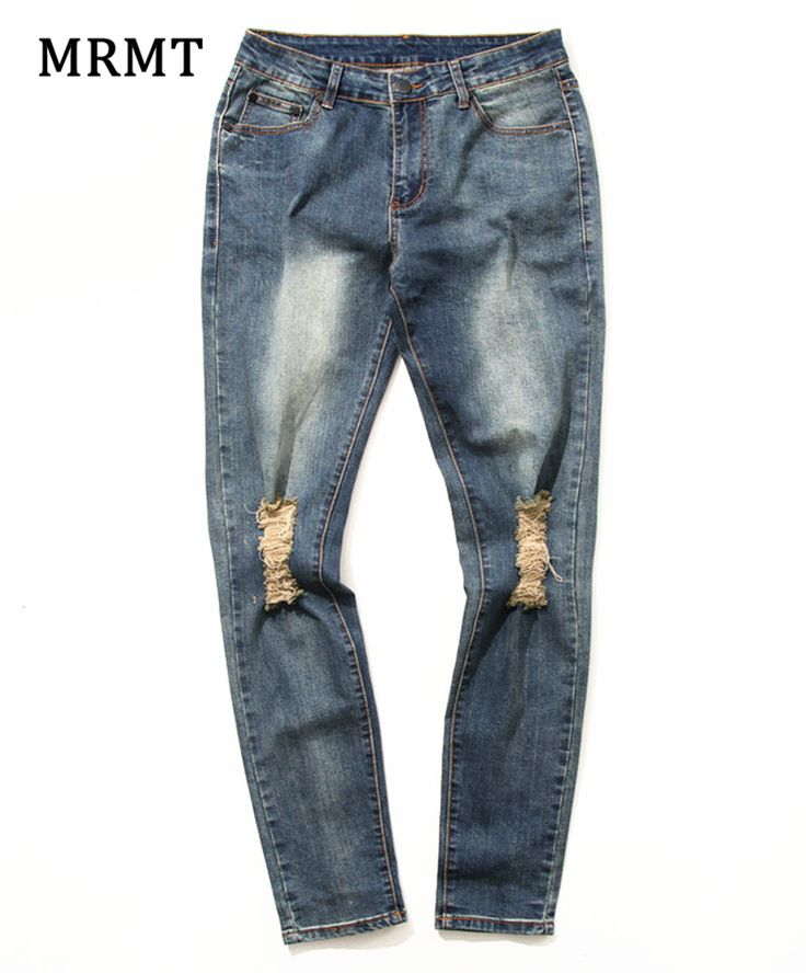 >> Click to Buy << 2017 Brand New biker jeans elastic pants jean torn jeans men destroyed jeans with holes denim skinny thin flexible  #Affiliate