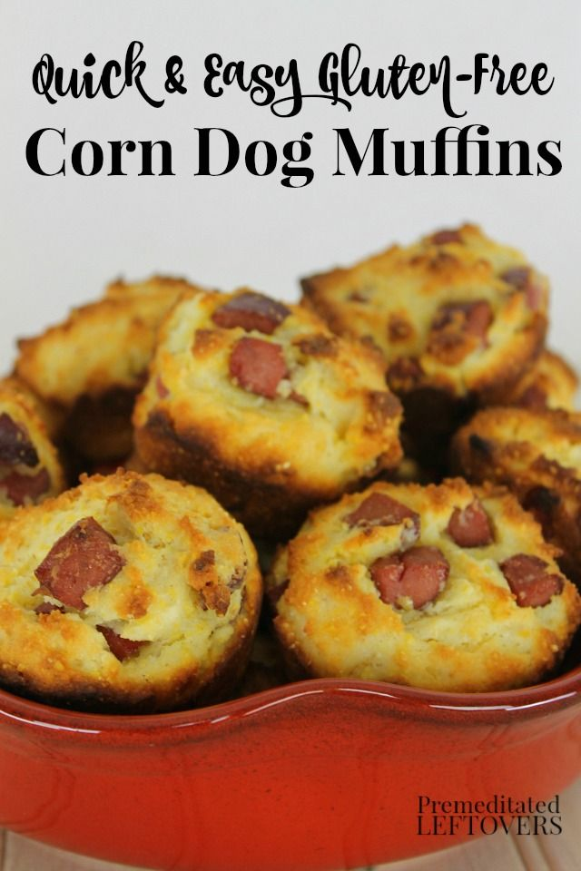 This quick and easy Gluten-Free Corn Dog Muffins recipe is sure to be ...